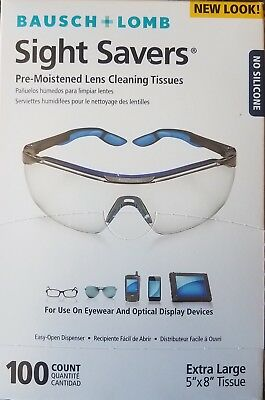 Bausch & Lomb 8574GM Pre-moistened Lens Cleaning Tissues Box of 100