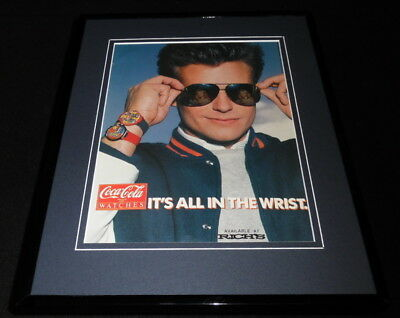 1987 Coca Cola Watches Framed 11x14 ORIGINAL Vintage Advertisement