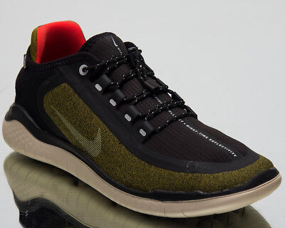 uk availability 0760e 9c095 Nike Free RN 2018 Shield New Running Shoes Olive Flak Silver Sneakers  AJ1977-300