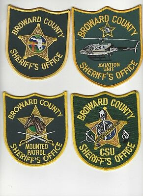 10 Different Broward Sheriff Office Patch Set RESTRICTED