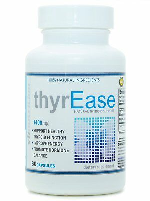 VH Nutrition | ThyrEase | Thyroid Support Supplement Complex with Iodine 60 Caps