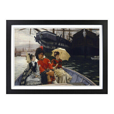 James Tissot Portsmouth Dockyard Painting Wall Art Framed Picture Print Size A2