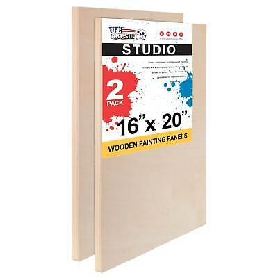 "16"" x 20"" Studio 3/4"" Profile Depth Artist Wood Pouring Panel Boards Pack of 2"