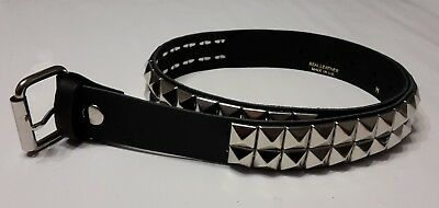 KIDS BELTS Real Leather PYRAMID CONICAL STUDS 2 row unisex Punk Rock Goth bike
