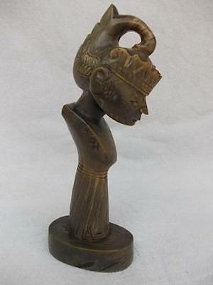 740 / Vintage Thai Figure Hand Carved From Bovine Cow Horn