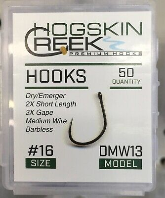 Fly Fishing Hooks Barbless Emerger//Egg Black Nickel CHW35 Sizes 10-18