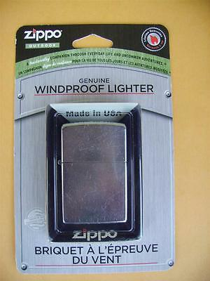Zippo 207 Regular Street Chrome Genuine Windproof Lighter!