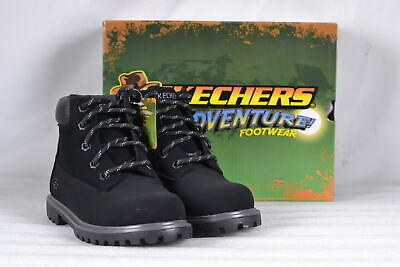 Youth Boy's Skechers Mecca-Bunkhouse Lace Boots Black