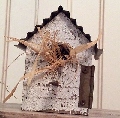 Tiny Reclaimed  Distressed Indoor  Decorative Bird House