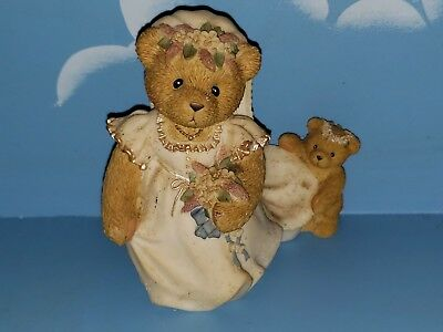 ENESCO Cherished Teddies Bear.Beautiful and Bearly blushing. Bride gown wedding