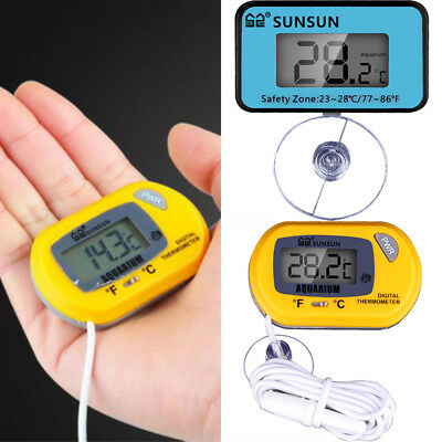 Aquarium Thermometer Digital LCD For Fish Tank Terrarium Fridge Freezer Temp Sub
