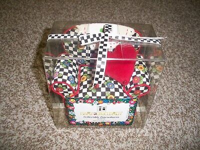 Mary Engelbreit Pin Cushion Chair Checked with Flowers Print 2001 NEW ! RARE !