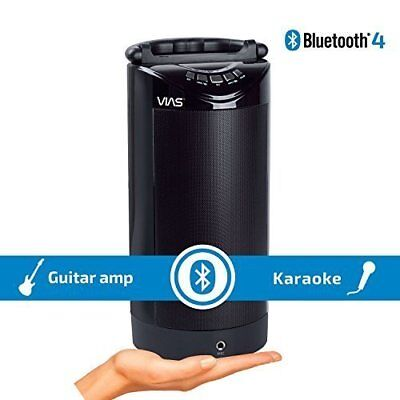 Battery Powered Bluetooth Wireless Speaker With Microphone Guitar Pactice Amp