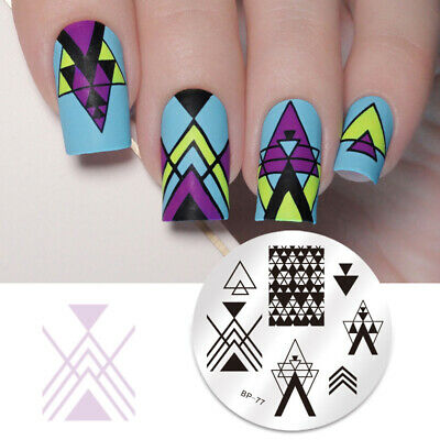 BORN PRETTY Nail Art Stamping Plates Geometry Negative Space Image Template DIY