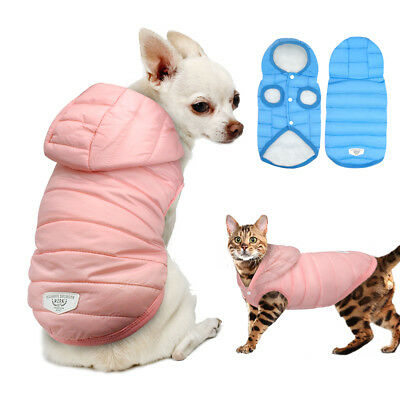 X Small Dog Clothes Winter Warm Puppy Coats Jacket Hoodie Chihuahua Yorkie Pug