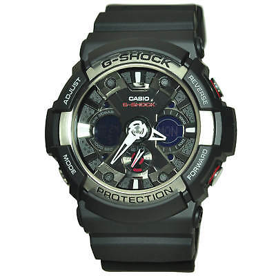 Casio Men's GA200-1A 'G-Shock' Chronograph Black Resin Watch