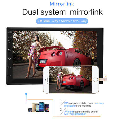 """7""""Double 2Din Quad Core Android 7.1 Car MP5 Player Radio Stereo GPS Nav WIFI USB"""