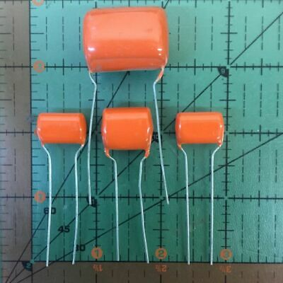 SPRAGUE RADIAL ORANGE DROP CAPACITOR 0.22uF 200v 225PX22492XD3 .22uF AUDIO 2pcs