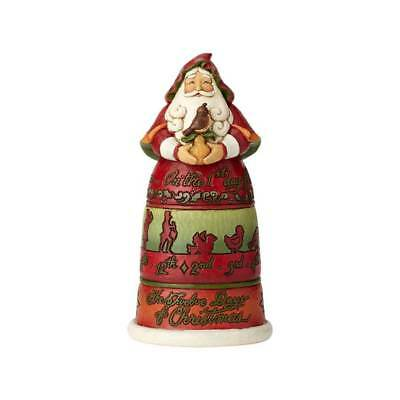 Jim Shore New 2018 12 DAYS OF CHRISTMAS SANTA-PARTRIDGE IN A PEAR TREE 6001462