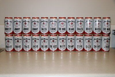 Jim Beam & Cola Join The Family 24 Can Set Unopened