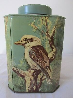 Vintage Bushells Tea Tin with Kangaroo Emu Kookaburra Koala Very Good Condition