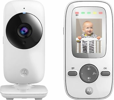 "Motorola - Video Baby Monitor with camera and 2.4"" Screen - White"