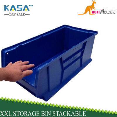 Massive XXL 50kg Storage Spare Parts Plastic Bin Stack able Commercial Quality