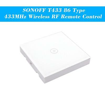 SONOFF T433 86 Type Luxury Wall Touch Panel Sticky 433MHz Wireless RF L9P7