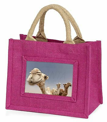 Camels Intrigued by Camera Little Girls Small Pink Shopping Bag Christ, CAM-1BMP