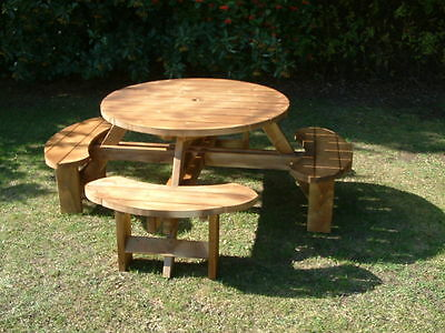 Remarkable Round Picnic Bench Table Beer Pub Garden Furniture Made Dailytribune Chair Design For Home Dailytribuneorg
