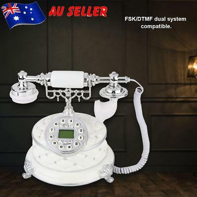 Retro Vintage Telephone Rotary Dial Antique Telephone Landline Phone Office Set