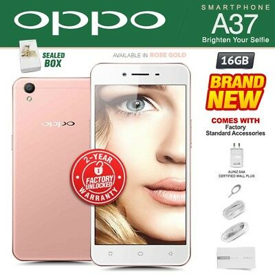 New & Sealed Factory Unlocked OPPO A37 Rose Gold Dual SIM Android Smartphone