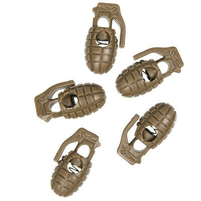 Pineapple Grenade Shaped Cord Locks Toggles Stoppers Drawcord (Pack of 10) Tan