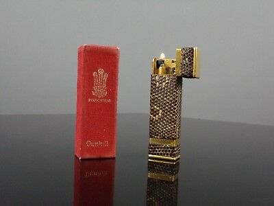 Briquet lighter essence Alfred DUNHILL TALLBOY galuchat art déco very RARE
