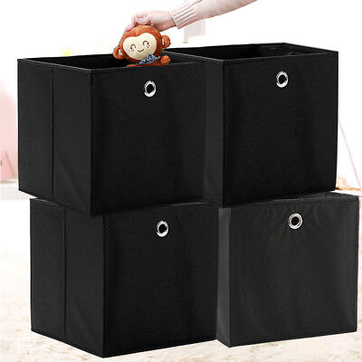 4er Set Faltbox in der Farbe 32 x 32 cm Faltkiste Regalkorb Regalbox Kinder  NEU