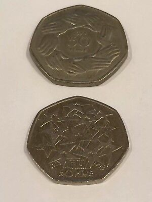 Brexit collection 50ps  1973, EEC RING OF HANDS, 1998 EEC 25th ANNIVERSARY 50P
