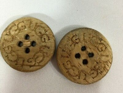 UGG 2 Pack Buttons for UGG  Boots  Leather Sheepskin Buttons Tall Short #5
