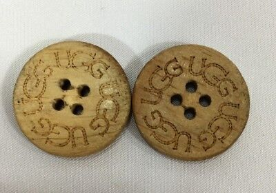 UGG 2 Pack Buttons for UGG  Boots  Leather Sheepskin Buttons Tall Short #4