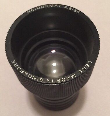 Heidosmat 2,8/ 85 Projector Lens Made In Singapore