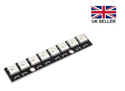 WS2812B 8 Bit 5V LED RGB Pixel Strip for Arduino, Raspberry Pi etc