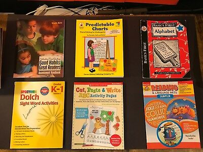 6 Pre-K -1 Phonics Reading, Motor Skills Activities Books by Scholastic & Others