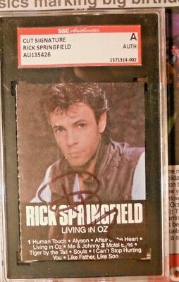 Rick Springfield- Living In Oz-  Autographed Signed Tape Cover-Sgc Slabbed