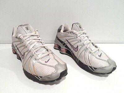 separation shoes 9519b 2870a ... ireland nike shox turbo oz womens shoes size 9.5 white purple running  athletic 310154 26be1 c6668