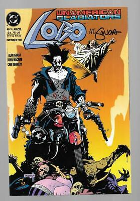 LOBO UNAMERICAN GLADIATORS 3 SIGNED BY MIKE MIGNOLA DC LEGION Vril Dix Phase