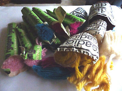 Approx 175 grammes random assortment used rug yarn various makes/colours