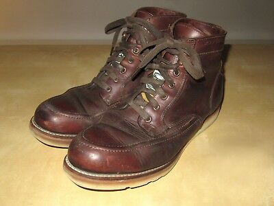 83e4c7b2cb3 WOLVERINE FILSON MENS 1000 Mile Emerson Wedge Leather Work Boots Rust 9  Shoes