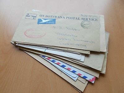 27 x Botswana Commercial Mail Covers; inc some Registered & 'on postal service'.