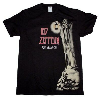 Led Zeppelin Hermit Black T-Shirt Men's Officially Licensed Band Tee s-M-L-XL