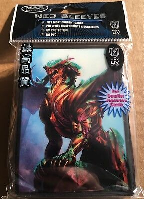 Max Protection Small Fit Sentinel Dragon - Neo Trading Card Sleeves - 50 Pack