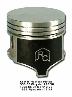 8 Coated Pistons & Rings 63 64 65 Chrysler Dodge 413